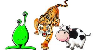 Alien, Tiger, Cow a team building game for kids