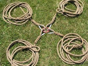 4-way tug of war rope