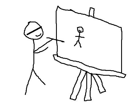 Blind drawing game