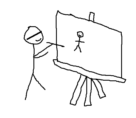 blind drawing my cool team