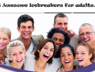 25 fun icebreaker for adults.